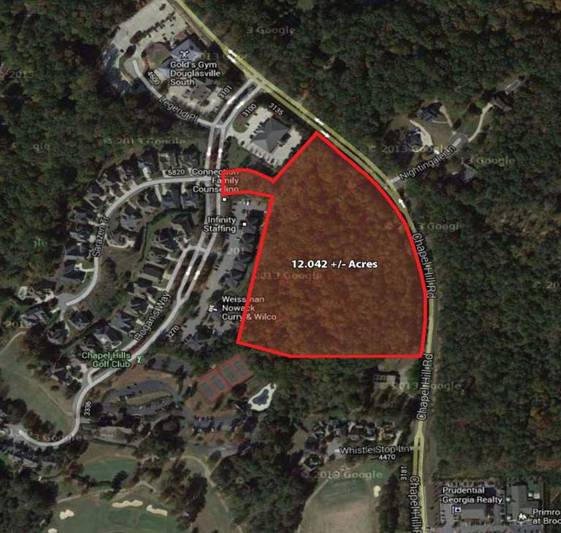 12.042 +/- acres on Chapel Hill Road Douglasville, GA 30135