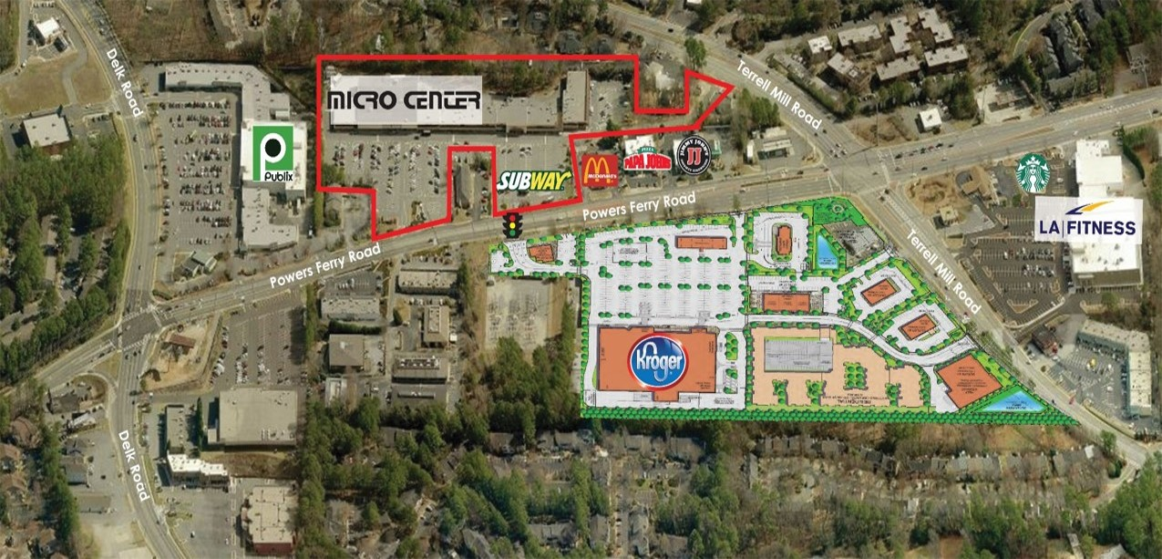 FOR LEASE - Powers Ferry Plaza Shopping Center (Retail Space, Fully Leased)